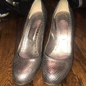 Pewter Gold Metallic Heels